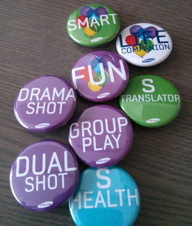 Badges Soirée de lancement GS4