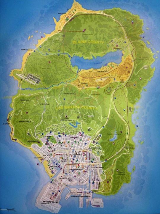 Carte GTA V (Personnalisé)