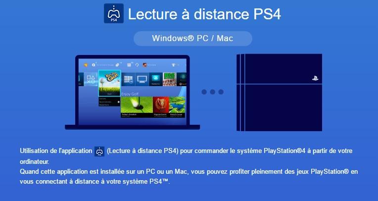 Lecture à distance PS4