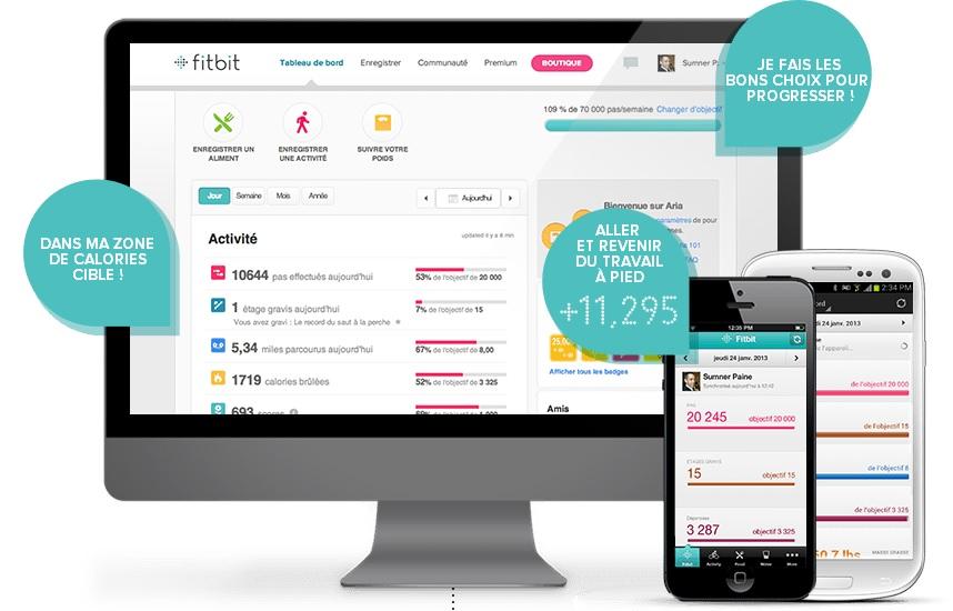 Tableau de bord Fitbit Flex