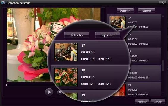 Video Editor Détection scène