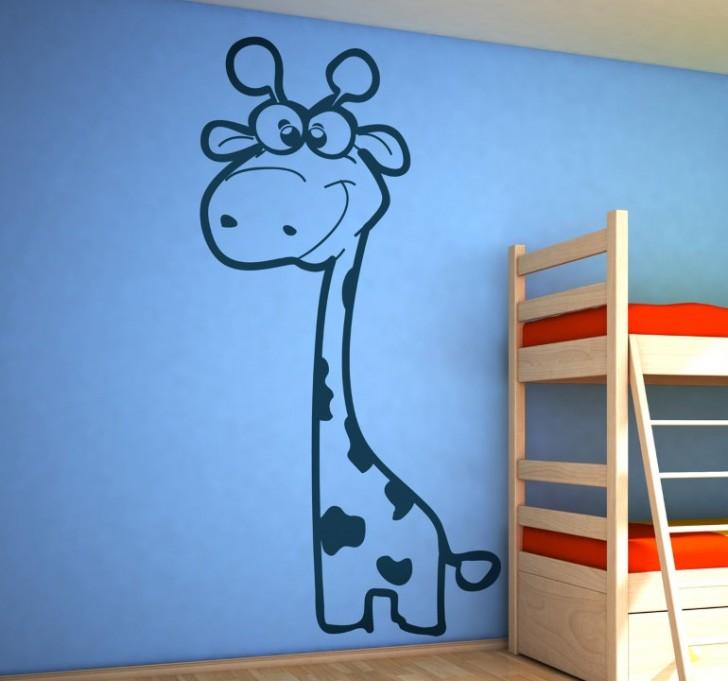 sticker-enfant-girafe-monochrome-69 (Personnalisé)